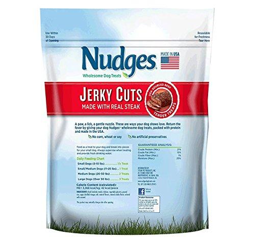 Nudges Jerky Cuts Dog Treats, Steak, 18 Ounce by Nudges (Image #2)