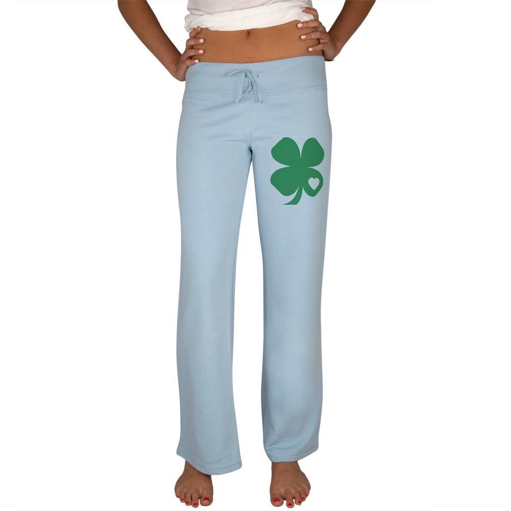 Old Glory St Patrick's Day Shamrock Heart Womens Sweatpants 00189470