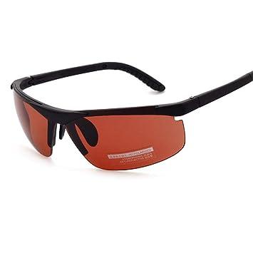 QJKai Gafas de Sol de Aviador Masculino Gafas de Sol polarizadas Marea Espejo de Conductor Deportivo