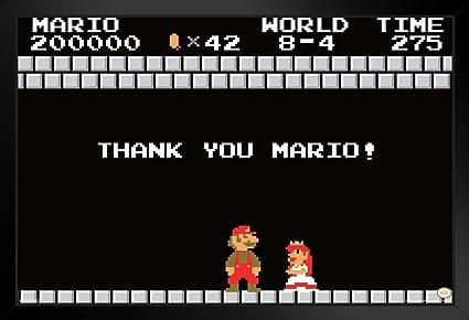 Amazon Com Pyramid America Super Mario Bros Thank You Mario