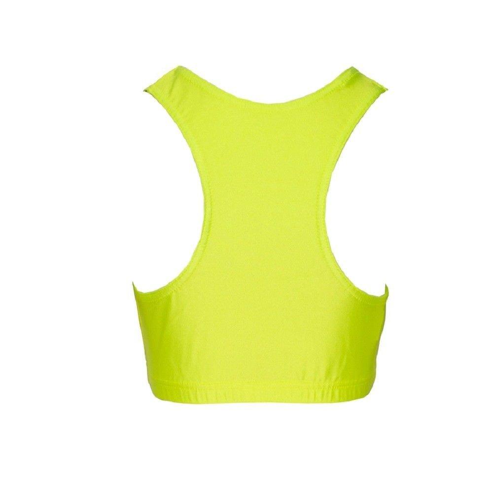 Papaval Kids Girls Lycra Dance Gym Sports Racer Back Crop Top Size 2-14