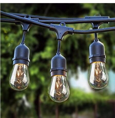 Sokani patio outdoor string lights weatherproof commercial grade sokani patio outdoor string lights weatherproof commercial grade great for party home bistro porch christmas backyard caf deck lights 24 foot long with 12 workwithnaturefo