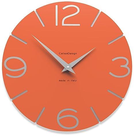 CalleaDesign - Orologi da muro Smile, Colore: Arancione: Amazon.it ...