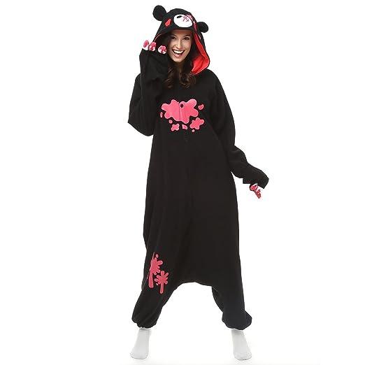 Adult Unisex Gloomy Bear Onesie Cosplay Costume Anime Cartoon Kigurumi Pajamas (M (5'2-5'6), Black)