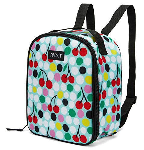PackIt Freezable Upright Backpack, Cherry Dots