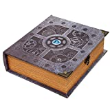 Grimoire Deck Box, Artificer | Large Wooden Spellbook Style Fabric Lined Deck or Cube Box for MTG, Yugioh, and Other TCG | 1000+ Card Capacity