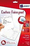 Avery 50 Cartes Faire-Part - A6 - Impression Jet d'Encre - Mat - Blanc (C2361)