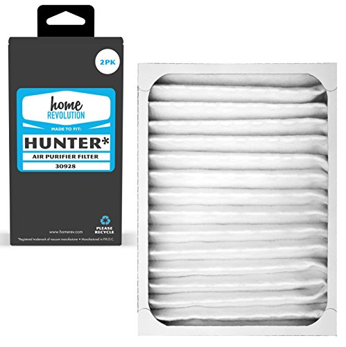 Home Revolution 2 Replacement HEPA Filters, Fits Hunter Part 30928 & 30057, 30059, 30067, 30078, 30079, 30097, 30124 and 30126 Air Purifiers