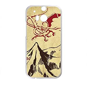 Unique mountain and red dinosaur Cell Phone Case for HTC One M8