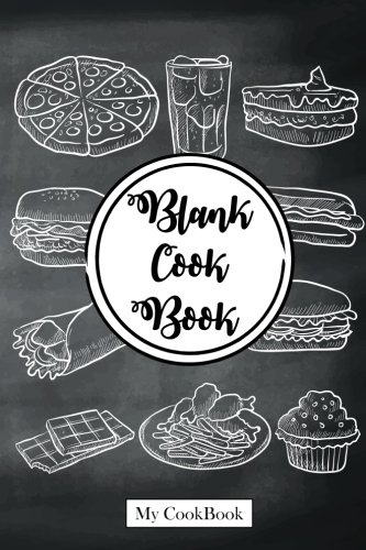 """Blank Cookbook: Recipe Journal From My Kitchen, 6"""" x 9"""",104 pages: Blackboard of Lunch (Recipe Journal Blank Cookbook to write in) by My Cookbook"""
