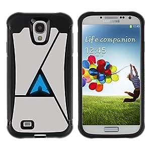 LASTONE PHONE CASE / Suave Silicona Caso Carcasa de Caucho Funda para Samsung Galaxy S4 I9500 / Triangle Abstract
