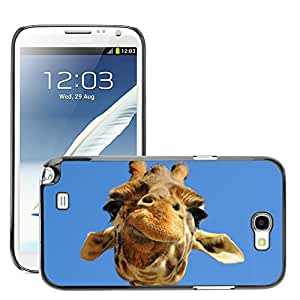 Hot Style Cell Phone PC Hard Case Cover // M00047655 funny wild giraffe animals // Samsung Galaxy Note 2 N7100