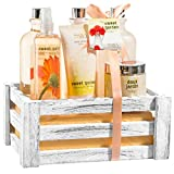Gift for her – Spa Flower Sweet Garden All in One Large Bath and Body Spa Skin Care Set Including: Body Mist Spray, Body Lotion, Bath Salts, Shower Gel, Hand Cream, Bubble Bath – Complete Gift Basket For Sale