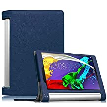 Fintie Lenovo Yoga Tablet 2 8 Folio Case Cover with Auto Sleep / Wake Feature (Only Fit Lenovo Yoga Tablet 2 8-Inch), Navy