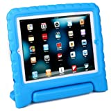 HDE Shock Proof iPad Case for Kids Bumper Cover Handle Stand for Apple iPad 2 iPad 3 iPad 4 (Blue)