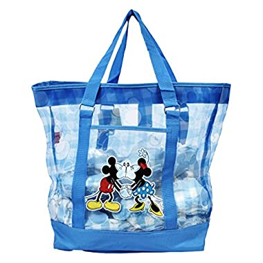 Disney Mickey and Minnie Mouse Large Mesh Beach Tote (Blue)
