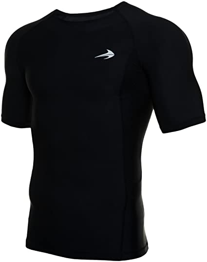0506f31d9173c CompressionZ Men s Short Sleeve Compression Shirt - Athletic Base Layer for  Fitness
