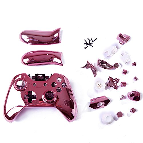 HDE Xbox One Controller Pink Chrome Custom Case Wireless Gaming Replacement  Cover Kit