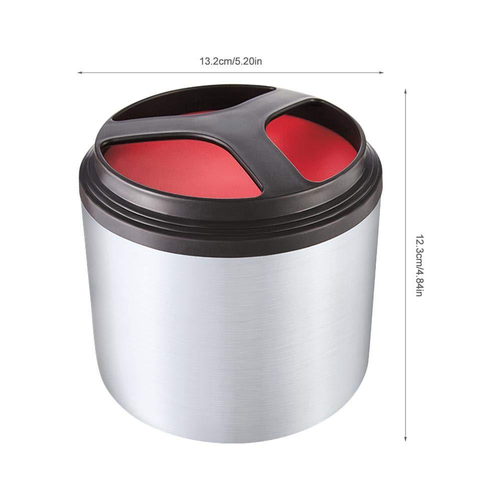 Bo/îte /à Lunch isol/ée sous Vide Ronde en Acier Inoxydable Portable Lunch Box D/éjeuner Soupe Plat Trois Manche Poign/ée Bol