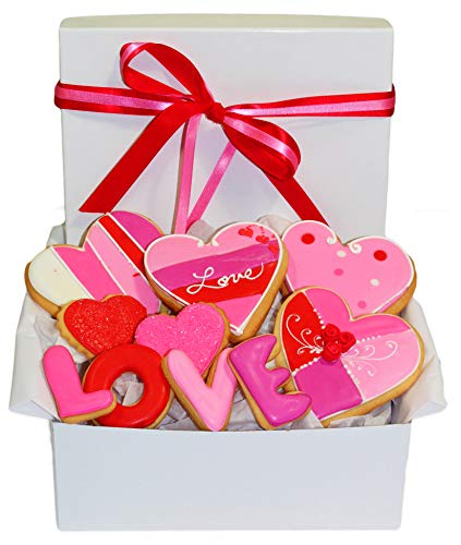 Valentine's Day Cookie Gift Basket 10 romantic Love for sale  Delivered anywhere in USA