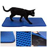 Easyology Cat Litter Mat for Large Litter Box - Litter Box Mat Trapper Traps 37% More - Waterproof Rubber Bottomed Litter Box Mat - Litter Trapper/Catcher Pad for Sensitive Paws