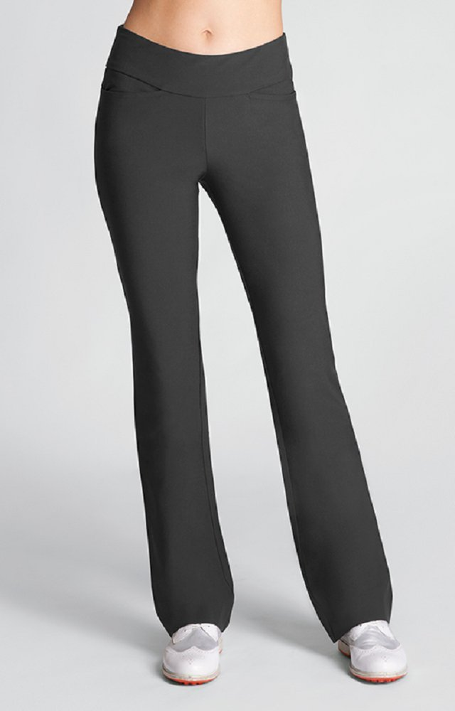 Tail Activewear Golf Essentials Collection - Womens Mulligan Boot Cut Pant (Iron) - Size 14
