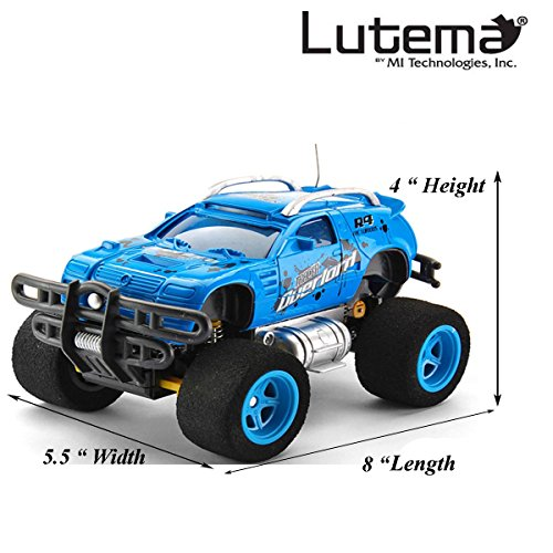 Lutema Tracer Overlord 4CH Remote Control Truck, Blue from Lutema