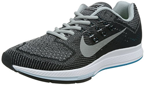 Nike Men's Air Zoom Structure 18, Wolf Grey / Metallic Silver - (Nike Zoom Air Running)
