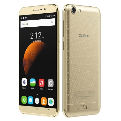 (CUBOT Dinosaur 5.5 Inch Android 6.0 Smartphone, MT6735 Quad-Core 1.3GHz, 3GB RAM + 16GB ROM GSM & WCDMA FDD-LTE (Gold))