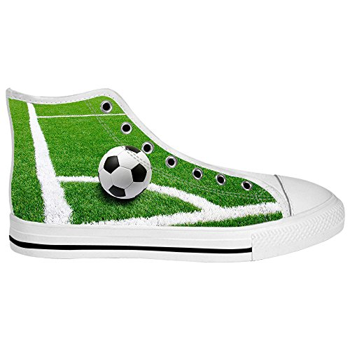 Custom Football sports Mens Canvas shoes Schuhe Lace-up High-top Sneakers Segeltuchschuhe Leinwand-Schuh-Turnschuhe D