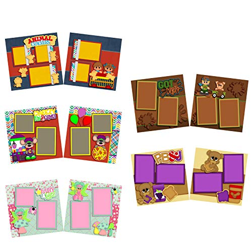 Just for Kids - Scrapbook Set - 5 Double Page Layouts