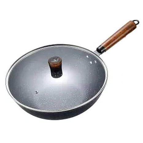 Sartén antiadherente Olla sin humo con wok Sartén ...