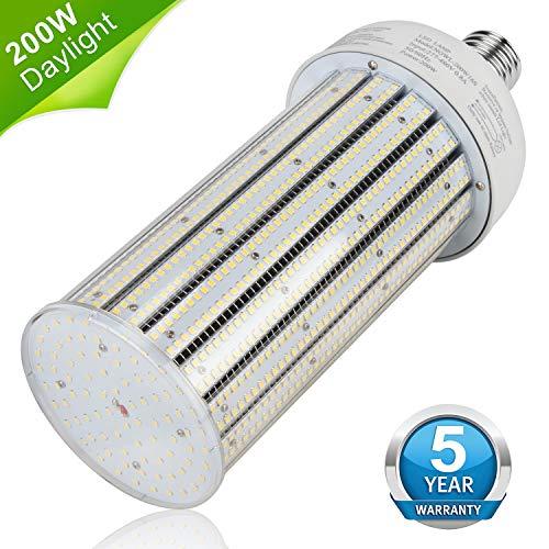 200W LED Corn Light Bulb 480V E39 Mogul Base LED Bulb 26,000 LM (1000Watt MH Equivalent) Daylight White 5000K Attic Workshop Warehouse High Bay Barn Shop Garage Lighting (Led Bulb Driver)