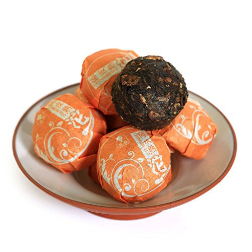 20Pcs (4.58 Oz) 2015 Year Yunnan Orange Peel Citrus Flavored puer Pu'er Puerh Tea Mini Ripe Tuo Cake