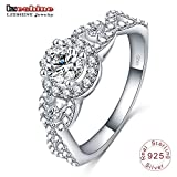 Slyq Jewelry Engrave Name Free New Collection 925 Sterling Silver Brilliant Stackable Ring Clear CZ Ring Fine Jewelry Anillos