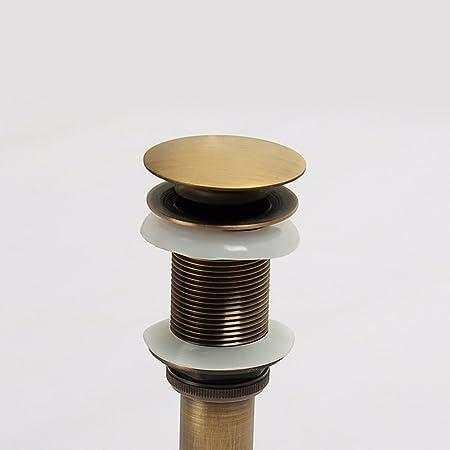 KUNGYO Lavello senza scanalatura Lavello Rubinetto Push Pop Up Click Clack Tappo di scarico Tappo di Giallo