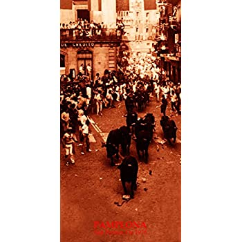 """Running of the Bulls Vintage Poster #11 Canvas Art Poster 12/""""x 24 Pamplona"""