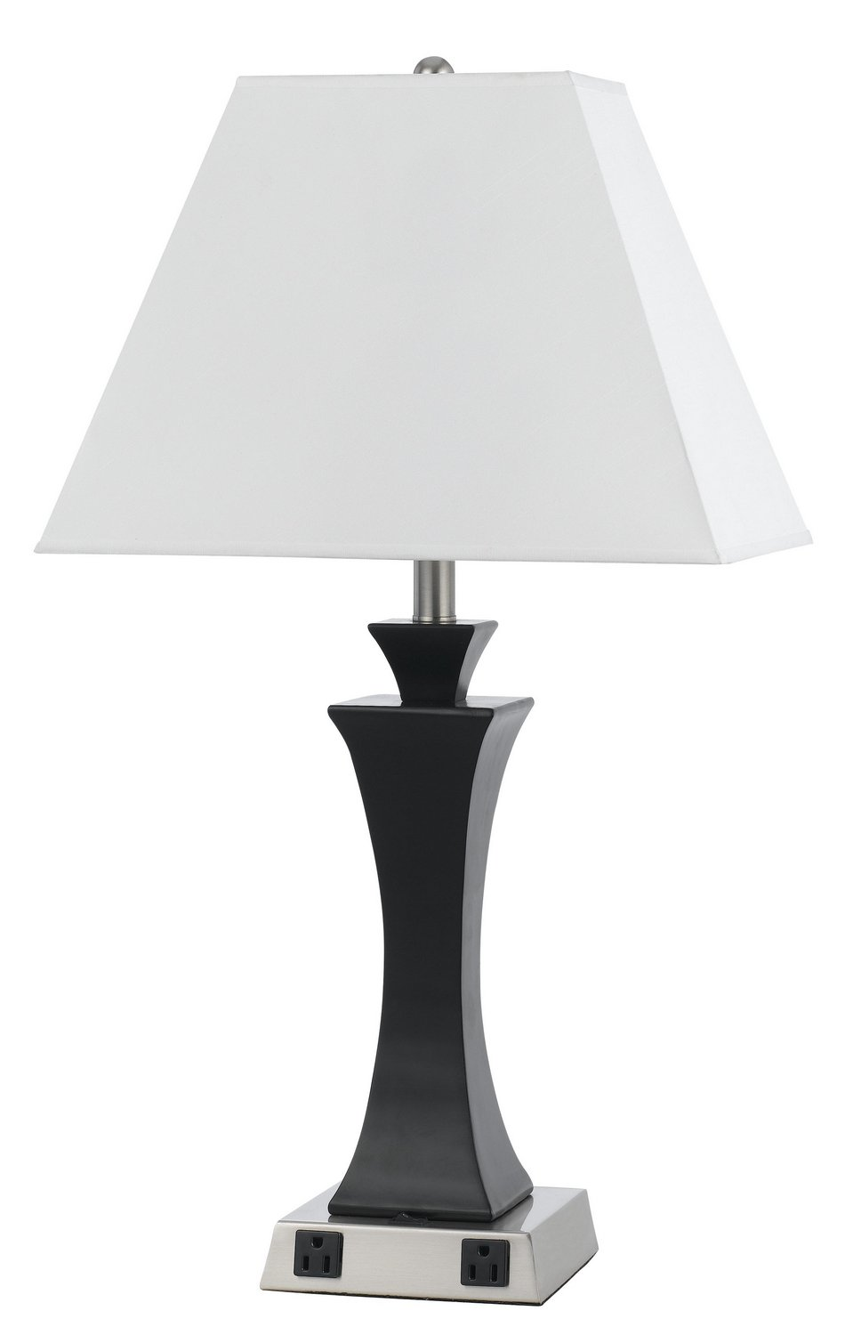 best table lamps with power outlets. Black Bedroom Furniture Sets. Home Design Ideas