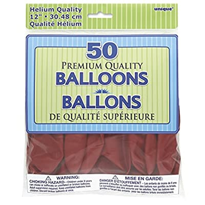 Unique Cherry Red Party Balloons, 1 Pack: Toys & Games