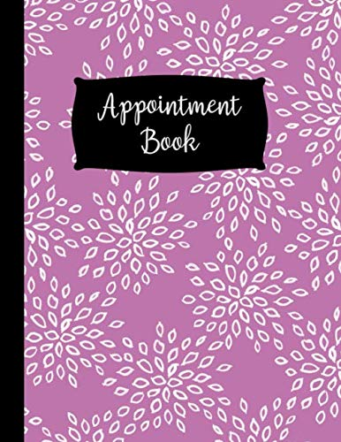5 Column Appointment Book: Large Purple 5 Column Undated Schedule Book – 120 Pages 15 Minute Increments – Floral Design Notebook Planner