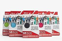 MDSOX 20-30 mmHG Graduated Compression Socks (Black, X-Large)