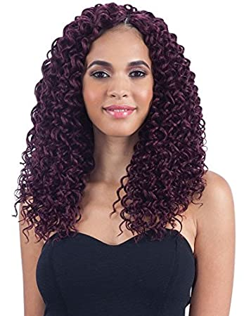 Beach Curl 12 1 Jet Black Freetress Synthetic Crochet Braid