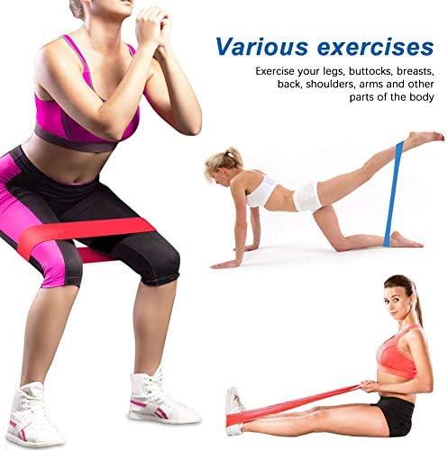pack de 14 Yoga Bande De Resistance Elastique Fitness Musculation Band Set avec 5 Latex Tubes en 150LBS Pilates 3 Loop Stretch Bands pour Hommes Femmes Gymnastique /à Domicile Exercice Formation