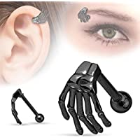 Clearance!! WuyiMC Ghost Hand Ear Tragus Stainless Steel Earring Piercing Body Jewelry