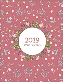 amazon 2019 daily planner red flower daily calendar book 2019
