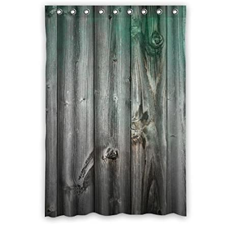 Wood Grain Shower Curtains Funky Bright Polyester Waterproof 48 Quot