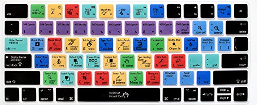 HRH Adobe Photoshop PS Functional Shortcut Hotkey Keyboard Cover Silicone Skin for Apple Magic Wireless Bluetooth Keyboard MLA22LL/A (A1644,2015 Released) with US Layout (Photoshop Keyboard Pc)