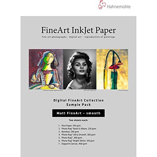 Giclee Art Matte (Hahnemuhle Matte Fine Art Smooth Archival Inkjet Paper Sample Pack, 8.5x11