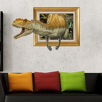 Vulk Stickers Muraux Créateur 3d Dinosaure Jaune Canapé Wallpaper