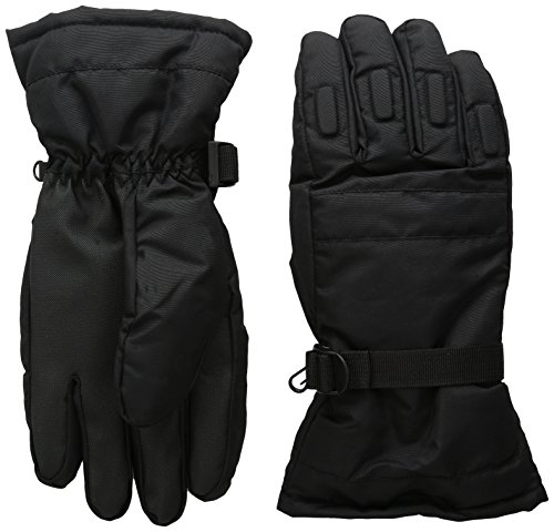 eWing Mens Winter Snow, Ski, Snowboard, Cold Weather Gloves, Black, One Size